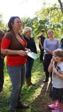 Nikki Telkes gave the group plenty of wild plant knowledge